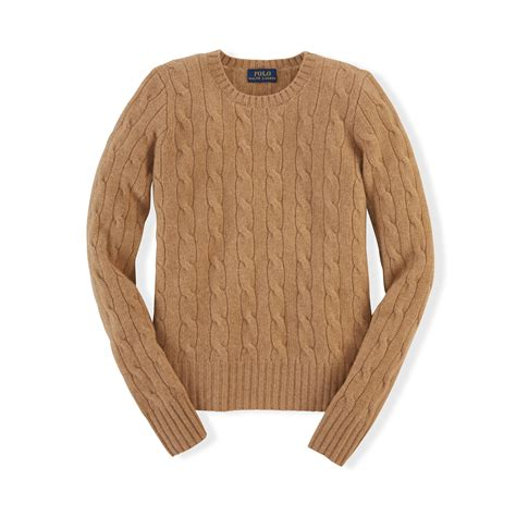 ralph cable knit sweater ralph cable knit sweater in brown lyst