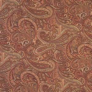 Paisley Upholstery Fabric orange and gold paisley contemporary upholstery grade