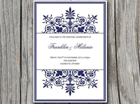 half fold wedding program template snowflake diy wedding program template ornate border