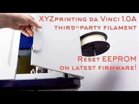 xyzprinting resetter xyzprinting da vinci 1 0a third party slicer slic3r a