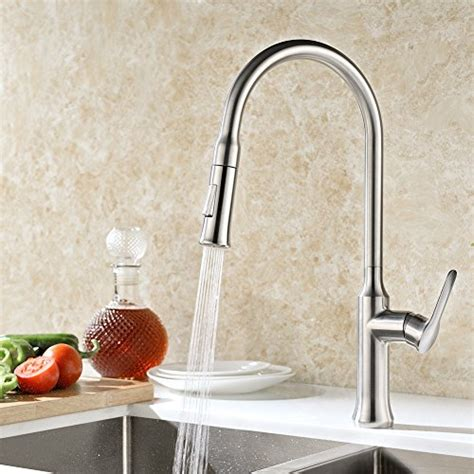 arch single handle pull out sprayer kitchen faucet gicasa high arch solid brass kitchen sink faucet