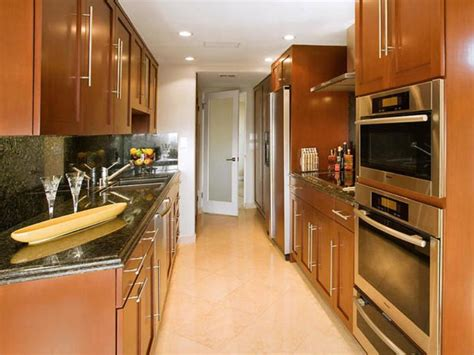 narrow galley kitchen design ideas modern galley kitchen ideas decozilla