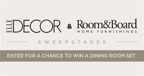Elle Decor Sweepstakes - here s your chance to win a dining room set from room board