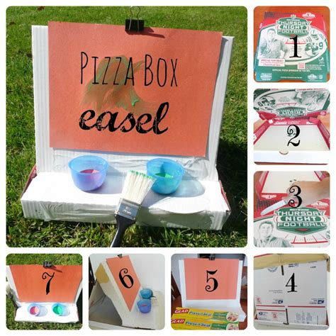 How To Make A Pizza Box Out Of Paper - how to make pizza box easel munchkins and