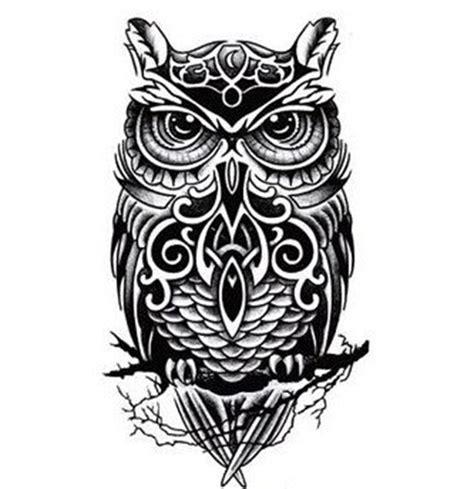 31534 White Pin Shoulder Blouse Blouse Hitam Putih Orange black and white owl totem printed sticker waterproof wrist arm lower shoulder
