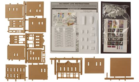 layout zoom scale night life n scale kit n scale woodland scenics