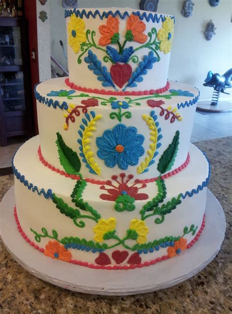 Mexican Decorating Ideas For Home by Vintage Embroidered Mexican Wedding Cake Cakecentral Com