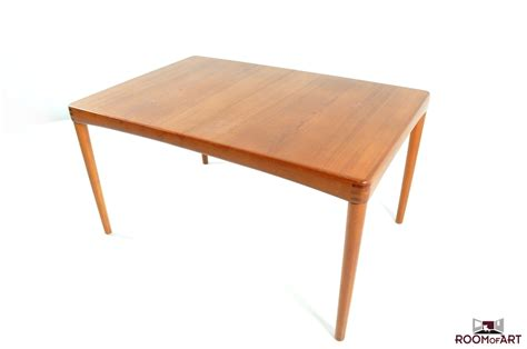 dining table in teak by h w klein modernism