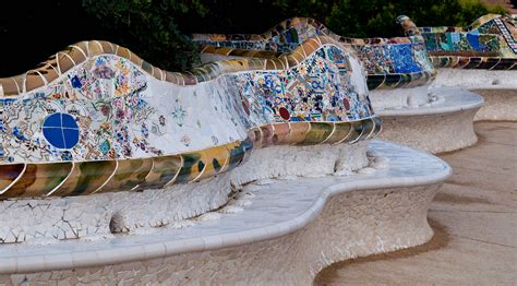 park guell bench mosaics benches and parks on pinterest