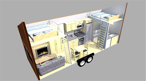 tiny home layouts this tiny home on a trailer is styled after famous
