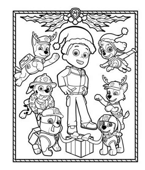 christmas coloring pages paw patrol paw patrol holiday coloring pack a well coloring and