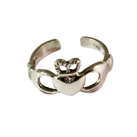 charm school uk gt silver toe rings gt claddagh