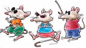 3 Blind Micr Three Blind Mice Nursery Rhyme Youtube