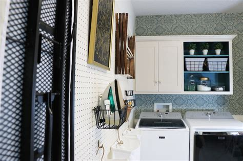 remodelaholic   hang pegboard  perfect laundry