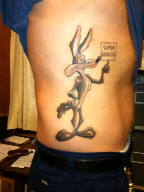 my new tattoo wile e coyote super genius youarenotmydna