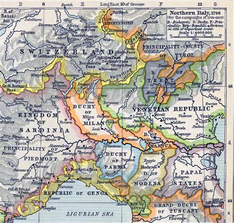 map of northern italy map italy