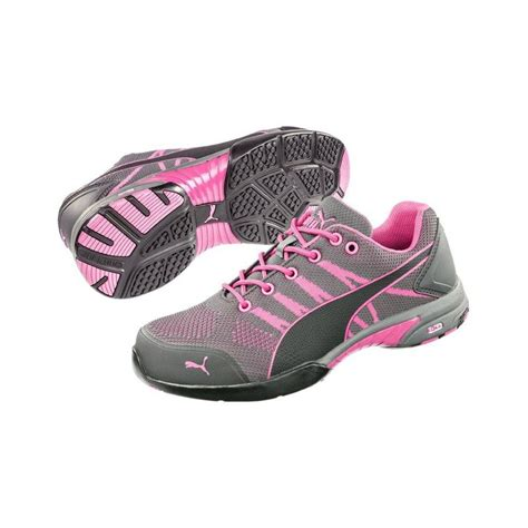 safety s celerity pink steel toe knit shoes