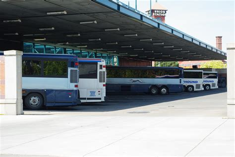 Office Depot Locations In Nyc File Greyhound Buses At Depot Portland Oregon Jpg