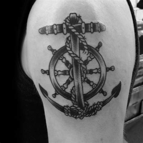 seamans cross tattoo 40 anchor cross designs for religious ink ideas