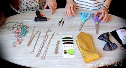 tutorial dasi pria ide membuat aksesoris rambut jepit pita dari dasi pria