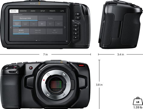Blackmagic Pocket Cinema Camera Tech Specs Blackmagic