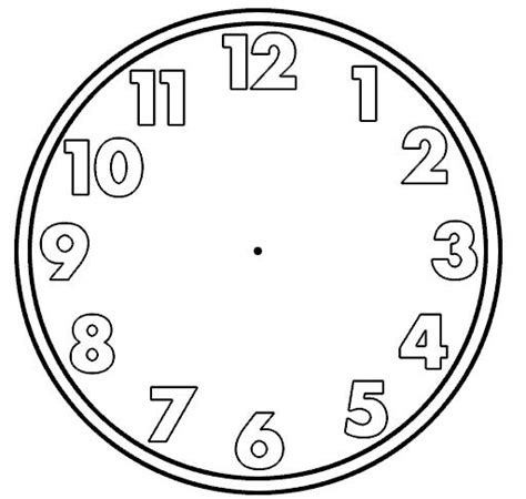 printable clock face graphic blank clock face clipart best