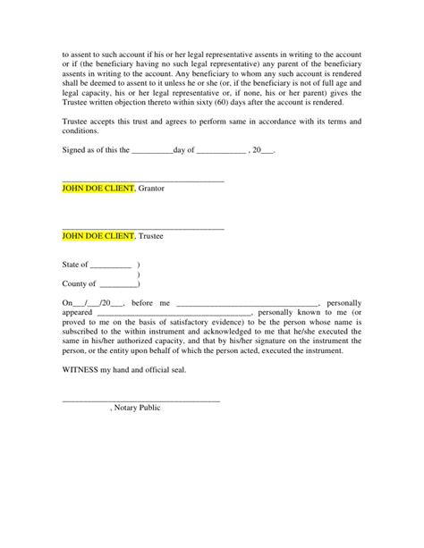 Microsoft Word Ira Trust Template Beneficiary Nomination Form Template