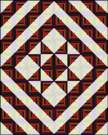 log cabin quilt designs