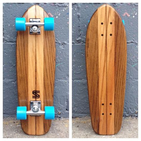 Handcrafted Skateboards - the upright oak cruiser middle handmade and skateboard