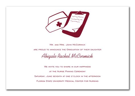Nursing Graduation Card Template by Mccormick Rn Graduation Announcements By Invitation