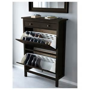 Ikea Shoe Storage Cabinet Hemnes Shoe Cabinet With 2 Compartments Black Brown 89x127 Cm Ikea