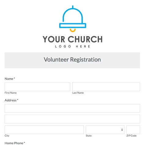 church volunteer info registration card template areas work skills church registration cards pictures to pin on