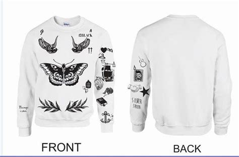 harry styles tattoos list updated version unisex crewneck sweatshirt harry styles