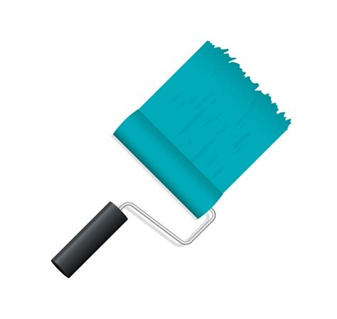 blue paint roller brush vector graphics my free photoshop world