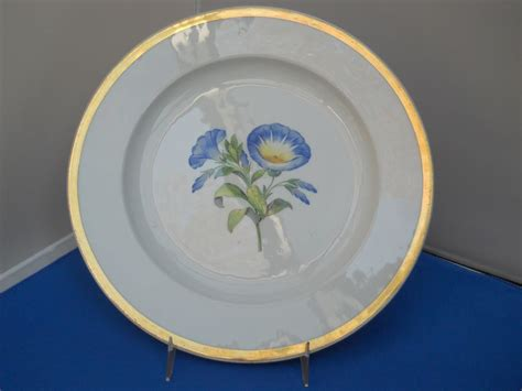 beautiful plates beautiful meissen plate with blue flowers and gold rim c