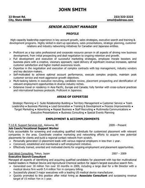 commercial insurance account manager resume sample sales template