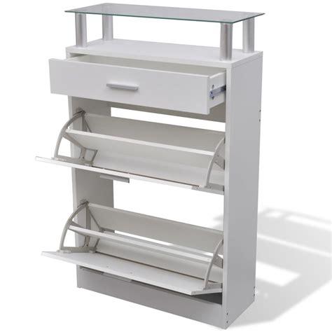 scarpiera con cassetto articoli per scarpiera legno bianco con cassetto e mensola