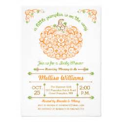 407 pumpkin baby shower invitations pumpkin baby shower announcements invites zazzle