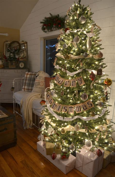 vintage farmhouse christmas tree little vintage nest