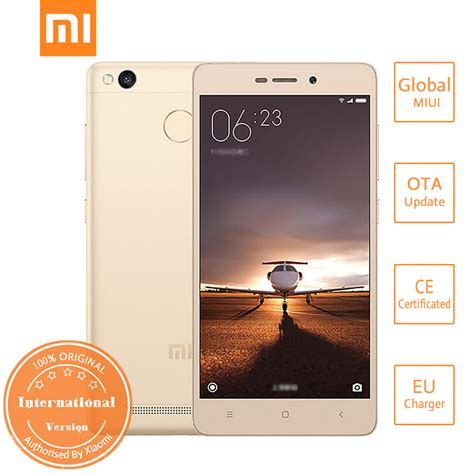 Free Superwide Xiaomi Redmi 3s Pro Ram 3gb 32gb Redmi 4 international version xiaomi redmi 3s 2gb 16gb smartphone gold