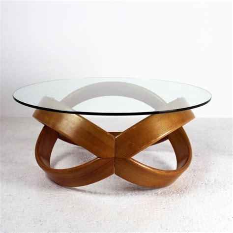 Merveilleux Fabriquer Table Basse Ronde #5: Table-en-bois-blond-plateau-de-verre-1960.jpg