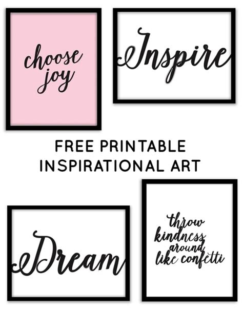printable quotes for gallery wall free printable inspirational wall art from chicfetti