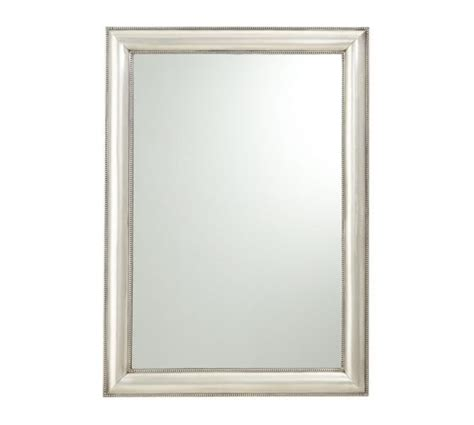 silver bathroom mirror silver beaded mirror pottery barn 339 30x42 two