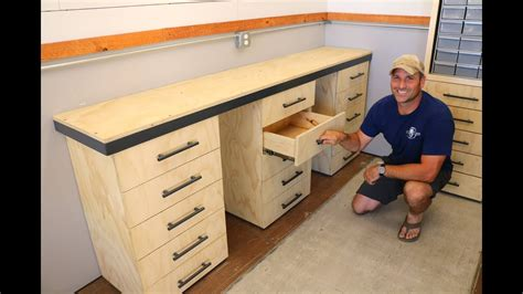 workbench  drawers build   shipping container