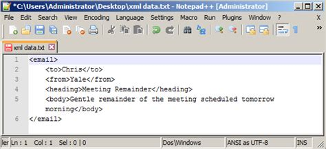 format xml file in notepad indent xml formatting in notepad code2care