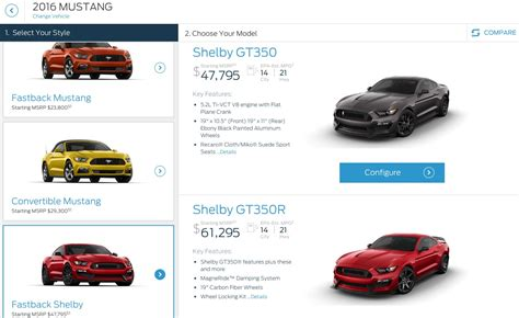 2016 ford mustang shelby gt350 pricing starts just