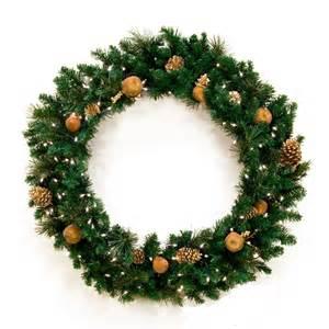 decorative wreaths harvest gold prelit christmas wreath