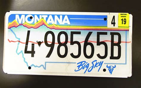 Montana License Plate Sticker Placement montana motor vehicle division introduces new colored tabs