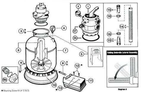 sand filter parts diagram hayward pro series s140t s144t sand filter parts list