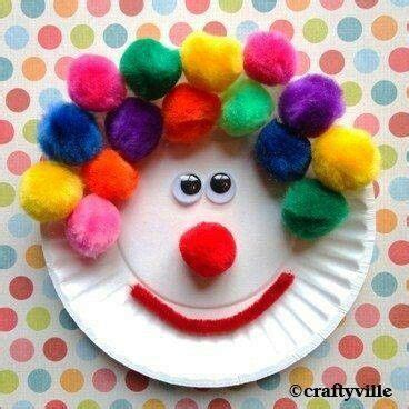 Clown Paper Plate Craft - clown paper plate craft make with